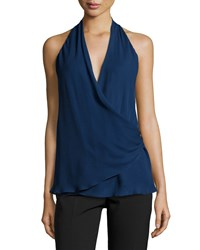 Missoni Sleeveless Faux Wrap Tank Top Midnight Black