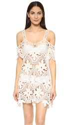 For Love And Lemons Monaco Crochet Cover Up Ivory