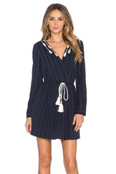 Twelfth St. By Cynthia Vincent Pleated Shirt Dress Navy