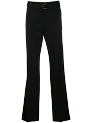 Valentino Belted Tailored Trousers Black