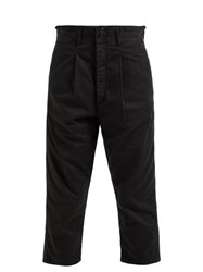 Chimala High Rise Cropped Cotton Chinos Black