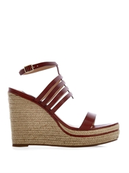 Diane Von Furstenberg Gabby Leather Espadrille Wedges