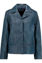 Marc By Marc Jacobs Washed Leather Jacket Storm Blue