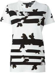 Marc By Marc Jacobs Painted Flower Print T Shirt White