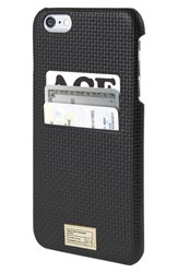 Hex 'Solo' Iphone 6 Plus And 6S Plus Wallet Case Black Black Woven Leather