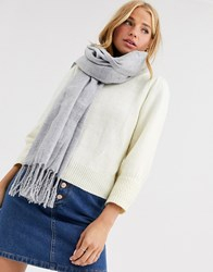 New Look Plain Scarf In Mid Grey