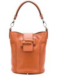 Tod's Bucket Tote Bag Brown