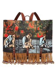 Jw Anderson X Gilbert And George Print Canvas Backpack Multi