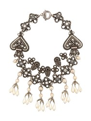 Katheleys Vintage Claire Deve French Couture Necklace Silver