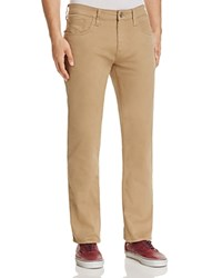 Mavi Jeans Zach Stretch Twill Straight Fit Pants British Khaki Twill