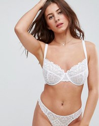 Asos Fuller Bust Rita Lace Mix And Match Underwire Bra White