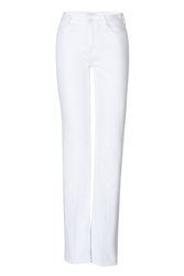 Mother High Waisted Wide Leg Jeans In White