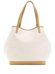 The Row Park Oversized Tote Neutrals