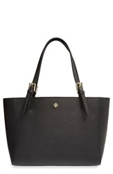 Tory Burch 'Small York' Saffiano Leather Buckle Tote Black