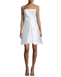 Phoebe Couture Strapless Fit And Flare Cocktail Dress White