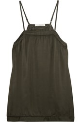 Etoile Isabel Marant Victoria Satin Camisole Army Green