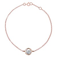 London Road 9Ct Gold Portobello Raindrop Diamond Bracelet Rose Gold