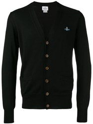Vivienne Westwood Patch Pockets Cardigan Men Cotton M Black
