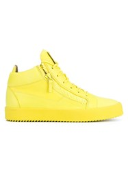 Giuseppe Zanotti Design Leather High Top Trainers Yellow And Orange