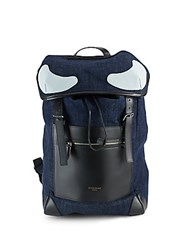 Givenchy Cotton And Leather Backpack Black