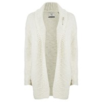 Maison Scotch Women's Home Alone Chunky Hand Knitted Cardigan White