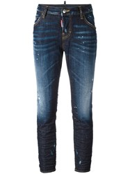 Dsquared2 Cool Girl Whiskered Accent Jeans Blue