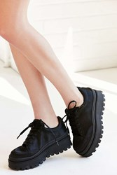Jeffrey Campbell Top Peak Satin Platform Sneaker Black