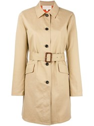 Michael Michael Kors Button Up Belted Jacket Nude Neutrals
