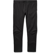 Lanvin Slim Fit Cotton Gabardine Biker Trousers Black