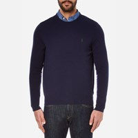 Polo Ralph Lauren Men's Long Sleeve Merino Knit Jumper Hunter Navy Blue