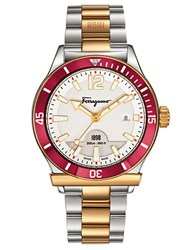 Salvatore Ferragamo Mens 1898 Sport Two Tone Bracelet Watch