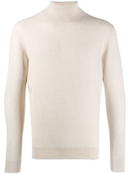 Cruciani Ribbed Roll Neck Jumper White