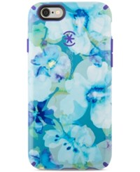 Speck Candyshell Inked Phone Case For Iphone 6 6S Aqua Floral Blue Ultraviolet Purple