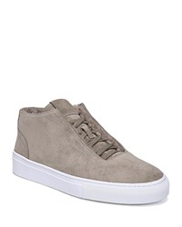 Via Spiga Sartin Suede Lace Up Sneakers Clay