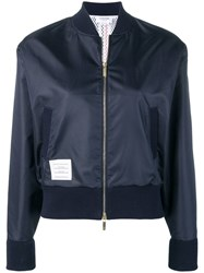 Thom Browne Center Back Navy Ripstop Bomber Blue