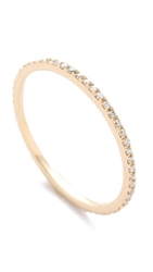 Gabriela Artigas Axis Ring Yellow Gold White Diamonds