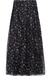 Noir Sachin And Babi Blanca Floral Print Voile Maxi Skirt Purple
