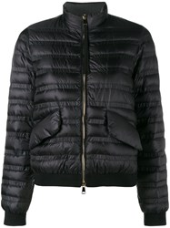 Moncler Quilted Long Sleeve Jacket Black
