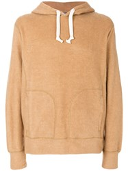 Junya Watanabe Comme Des Garcons Man Elbow Patch Hoodie Cotton Camel Hair S Brown