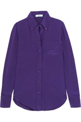 Prada Silk Crepe De Chine Shirt Purple