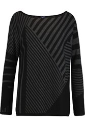 Splendid Striped Knitted Sweater Black