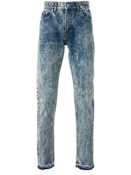 Msgm Bleached Straight Jeans Blue