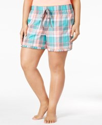 By Jennifer Moore Plus Size Plaid Boxer Pajama Shorts Only At Macy's