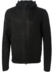 Salvatore Santoro Hooded Lambskin Jacket Black