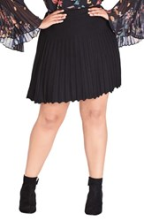 City Chic Plus Size Pleated Knit Skirt