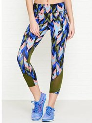 Nike Power Epic Lux Crop Runinng Tights Multi Green