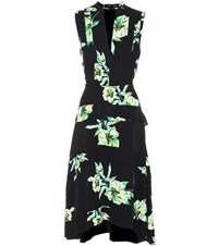 Proenza Schouler Printed Silk Dress Black