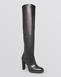Stuart Weitzman Platform Lug Sole Over The Knee Scrunchy Boots Bloomingdale's Exclusive Black