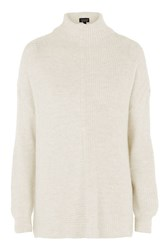 Topshop Tall Variated Rib Knitted Jumper Ivory