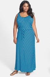 Plus Size Women's Caslon Drawstring Waist Maxi Dress